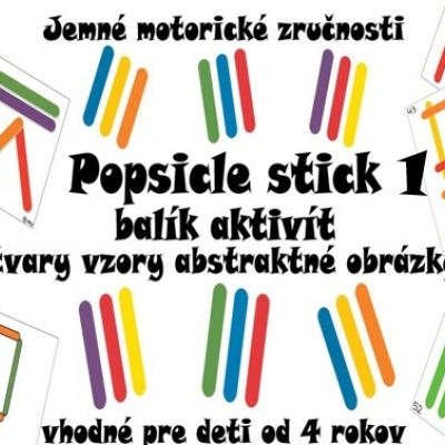 Popsicle stick - balík aktivít 1