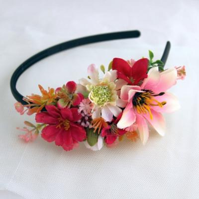 Čelenka ružovo bordová
