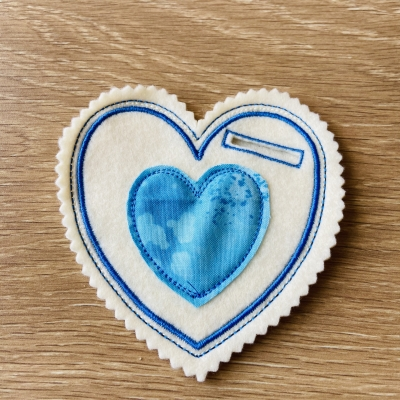 Srdiečko na darovanie modré