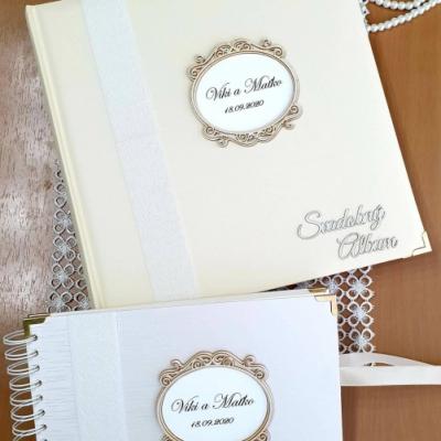 Set  Svadobný fotoalbum + Svadobná kniha hostí