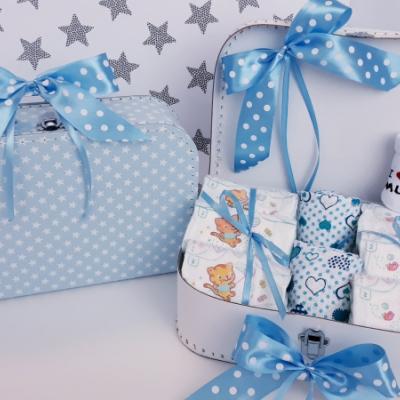 Bimbi plienkový kufrík, plienková torta Twins Sun Mini Hviezdička modrá