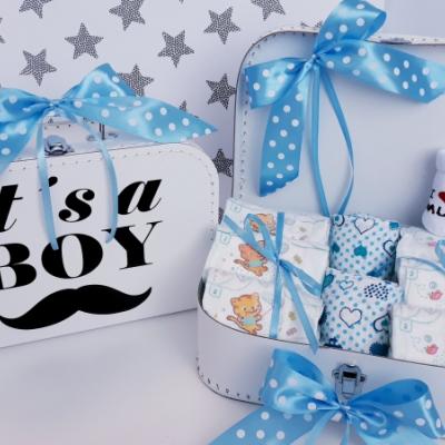 Bimbi plienkový kufrík, plienková torta  Sun Mini Boy biela
