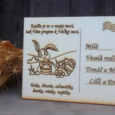 Veľkonočná pohladnica - zajko