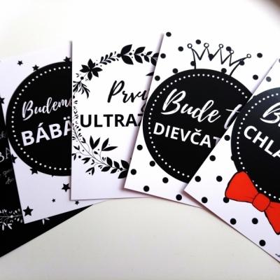 Tehotenské kartičky 16 ks