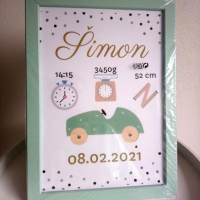 Pamätná tabuľka pre novorodenca