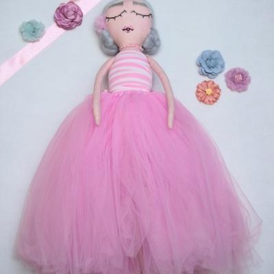 Látková bábika - baletka Alla - 51 cm