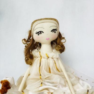 Bábika Chloe zlatobéžová 53 cm