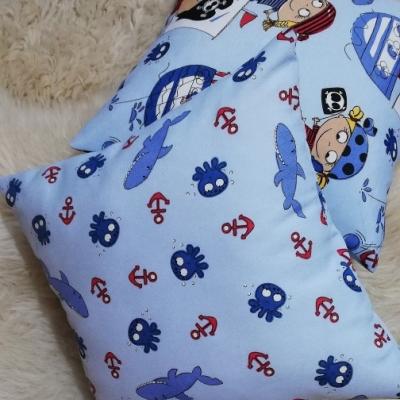 Obliečky na vankúšik - pre malého piráta (žralok a chobotničky ) 40x40cm