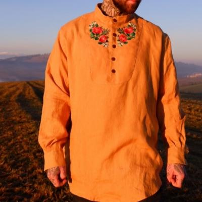 Pánska vyšívaná košeľa