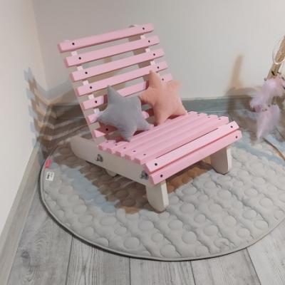 Detské drevené relaxačné kresielko