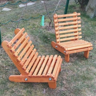 Detské drevené záhradné kresielko