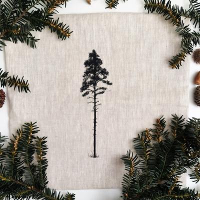 Ľanový vankúš strom