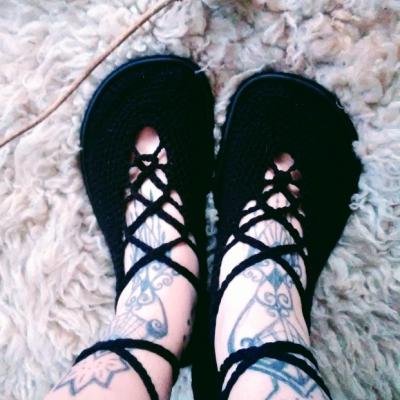 Barefoot balerínky čierne Zaježky