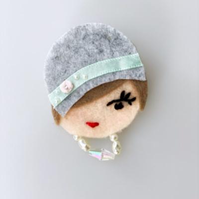 Filcová brošňa - Littletinka Ruža