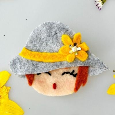 Filcová brošňa - Littletinka Slnečnica