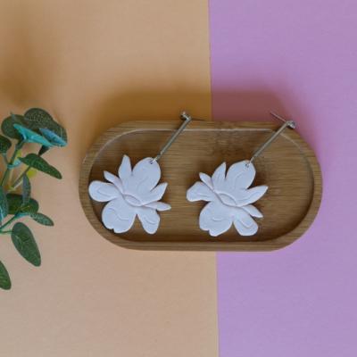 Kvetinové náušnice kosatce ružové