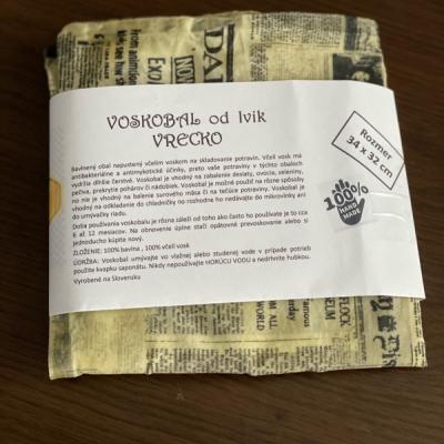 VOSKOBAL Novinové vrecko 34 x 32 cm
