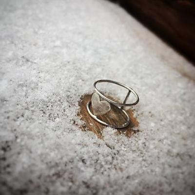 Strieborný prsteň sebaLáska III.