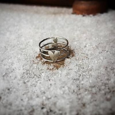 Strieborný prsteň sebaLáska IV.