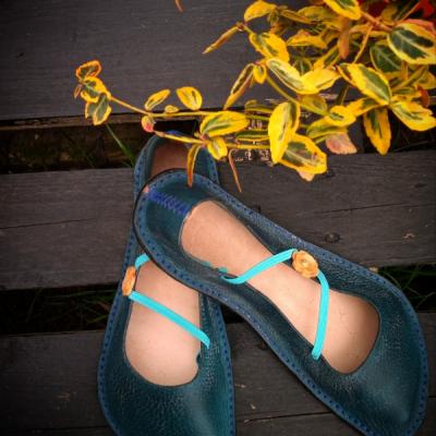 Spiral Barefoot Shoes  / Balerínky na mieru s gombíkom
