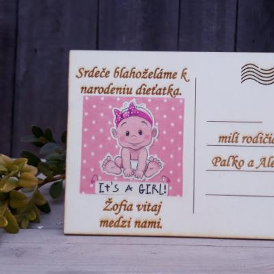 Pohladnica - narodenie dieťaťa