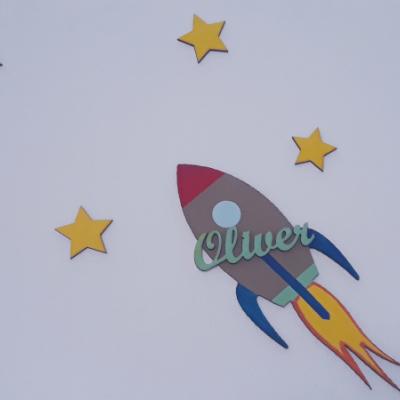 Raketa s menom a hviezdami