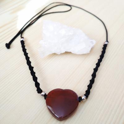 Karneolový náhrdelník srdiečko