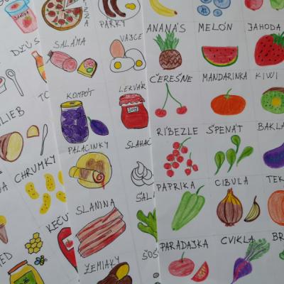 Komunikačné kartičky jedlom/potraviny