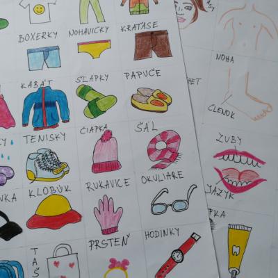 Komunikačné kartičky ľudské telo a oblečenie