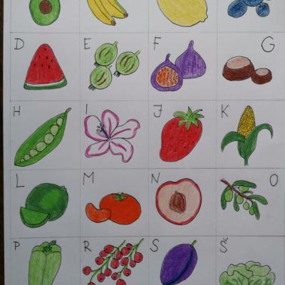 Pexeso abeceda ovocie/zelenina