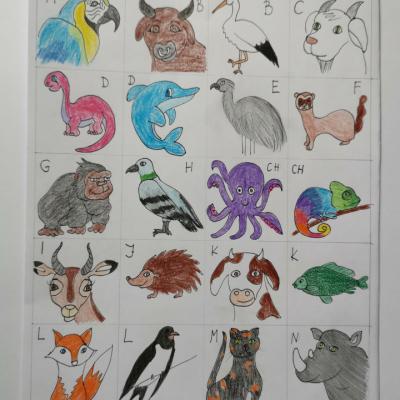 Pexeso abeceda zvieratá
