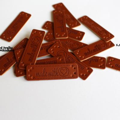 Kožená nášivka Hand made