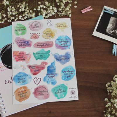 Tehotenský denník Čakáme bábätko s nálepkami
