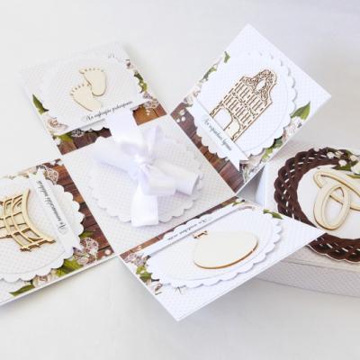Exploding box - darčeková krabička svadobná