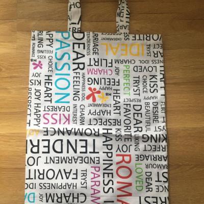 textilná písmenková taška