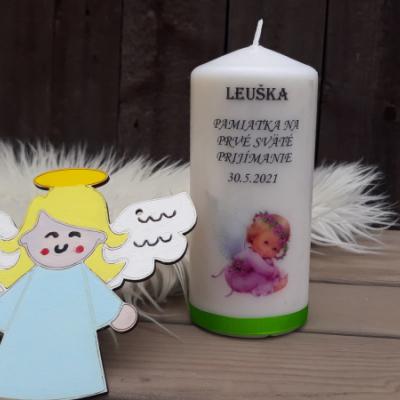 Sviečka a anjelik  1. sv. príijimanie