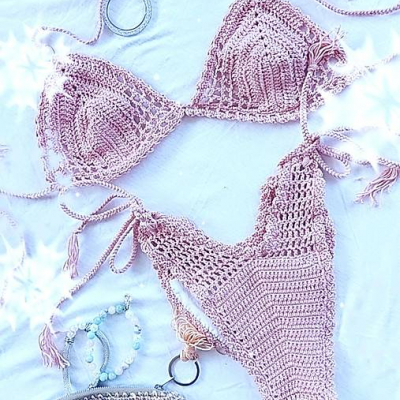 Dvojdielne plavky - ružové