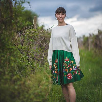 Zelená sukňa Amália