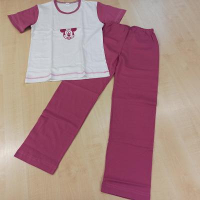 Dievčenské bavlnené pyžamo krátky rukáv