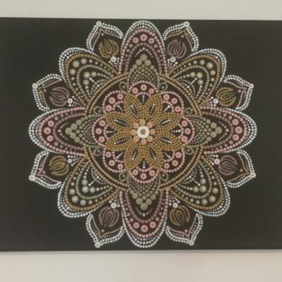 Elegantná mandala 30x40cm