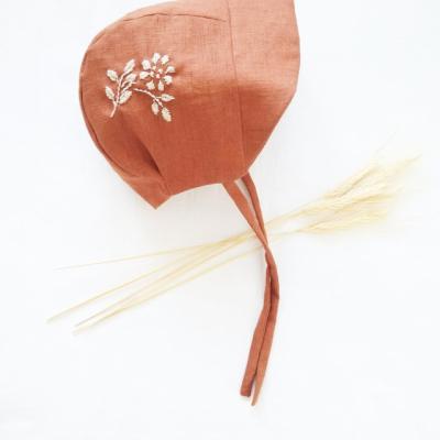 Ľanový čepček - RUST FLOWER