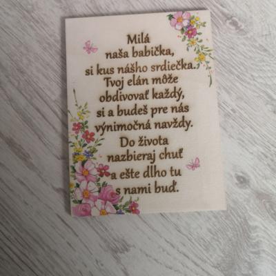 Tabuľka pre babičku