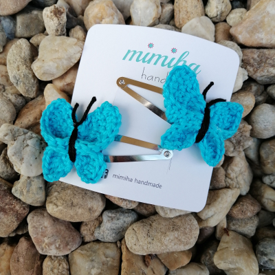 Pukačky tyrkysový motýlik