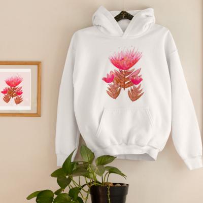 Ilustrovaná mikina kvety