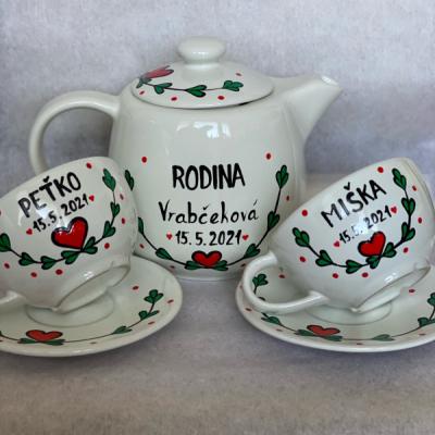 Svadobná sada na čaj či kovu Folklór