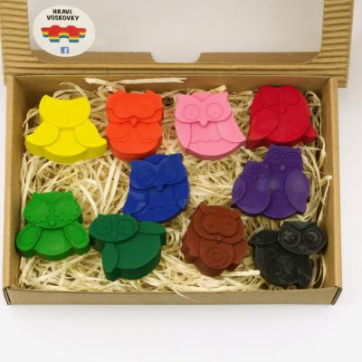 10 kusov voskoviek SOVIČKY v krabičke