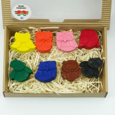 8 kusov voskoviek SOVIČKY v krabičke