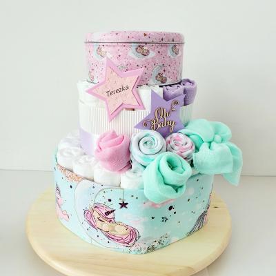 Plienková torta - jednorožec