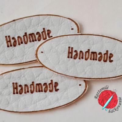 Koženkové štítky handmade variant č.1