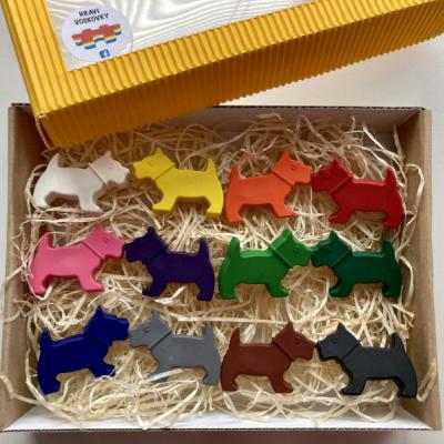 12 kusov voskoviek PSÍKOVIA v krabičke